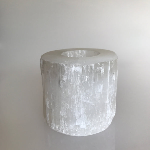 Selenite Tealight Candle Holder- Medium