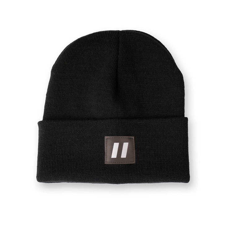 Black Toque with Reflective Patch