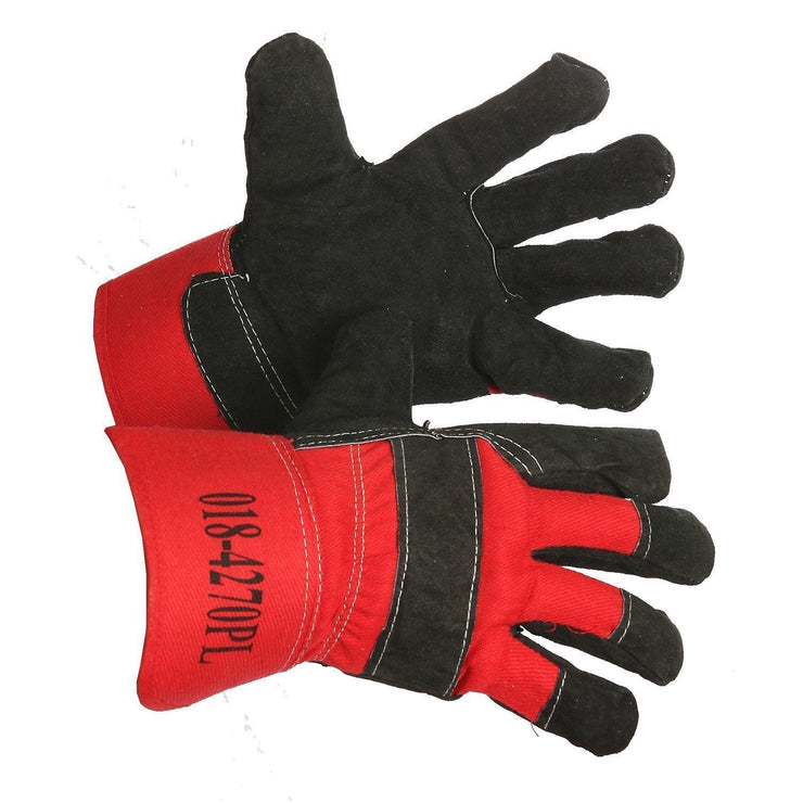"""Big Nikita"" Pile-Lined Split Leather Work Glove - Hi Vis Safety"