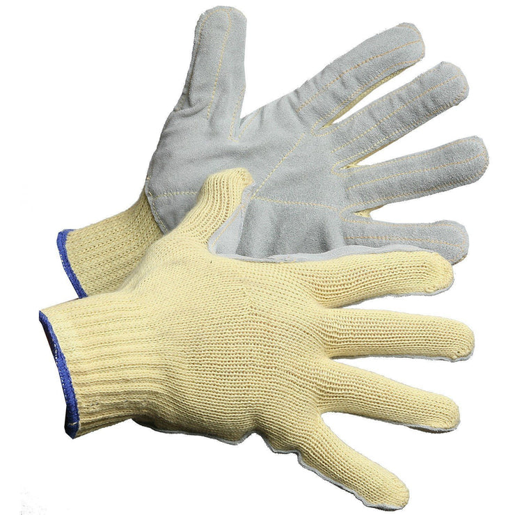Cut Resistant Kevlar Glove, with Leather Palm - Hi Vis Safety