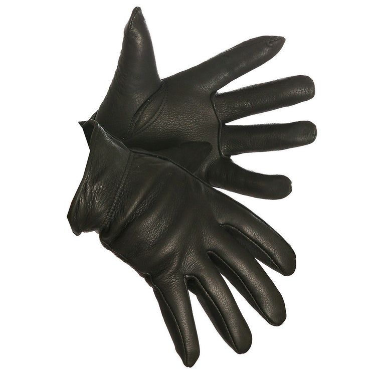 """Dirty Harry"" Thinsulate Lined Black Deerskin Driver's Glove - Hi Vis Safety"