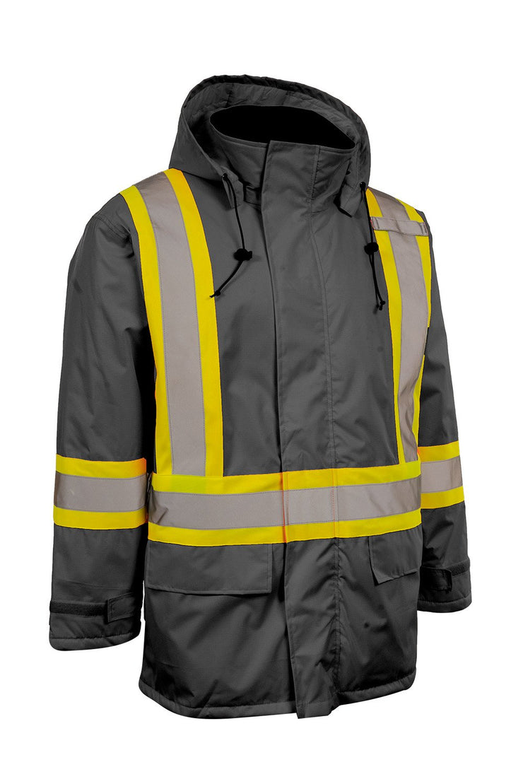 Hi Vis Insulated Miners Jacket