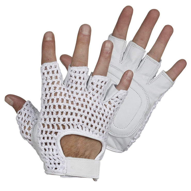 Fingerless Bicycle Gloves - Hi Vis Safety