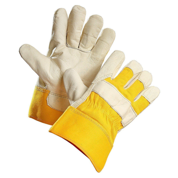 """Gloveware"" Grain Leather Work Glove with Removable Fleece Liner - Hi Vis Safety"