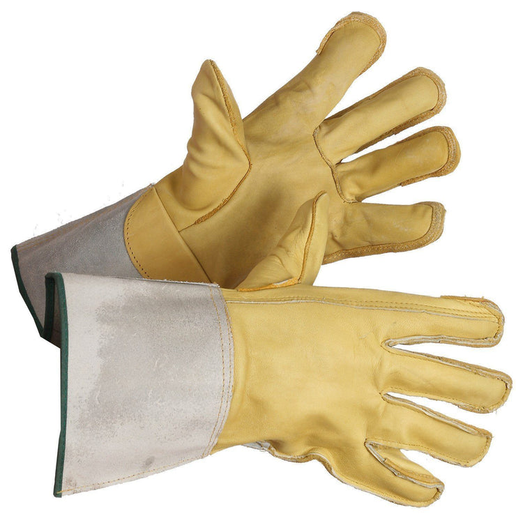 Grain Leather Linesman's Gloves - Hi Vis Safety