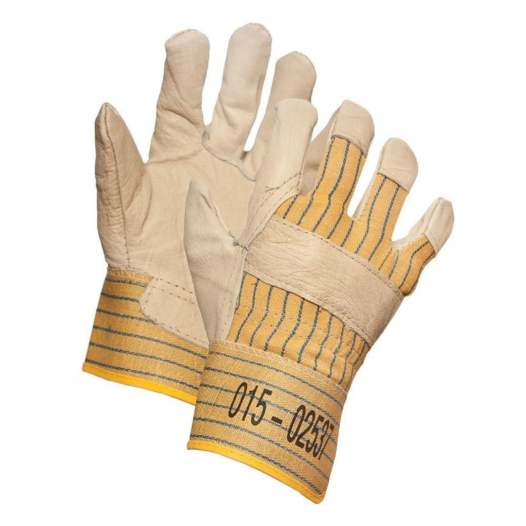 Grain Leather Work Glove, Ladies Size - Hi Vis Safety