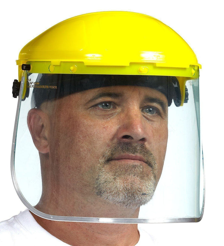 Headgear with Ratchet (Face shield Not Included) - Hi Vis Safety