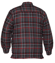 North Bay Red Plaid Quilted Flannel Shirt - Hi Vis Safety