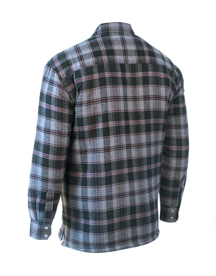 Oxbow Burgundy Plaid Quilted Flannel Shirt - Hi Vis Safety