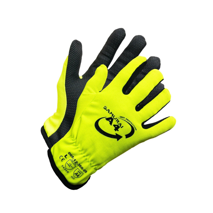 """Samurai A4"" Hi Vis Cut Resistant Work Glove - Hi Vis Safety"