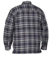 Shediac Blue Plaid Quilted Flannel Shirt - Hi Vis Safety