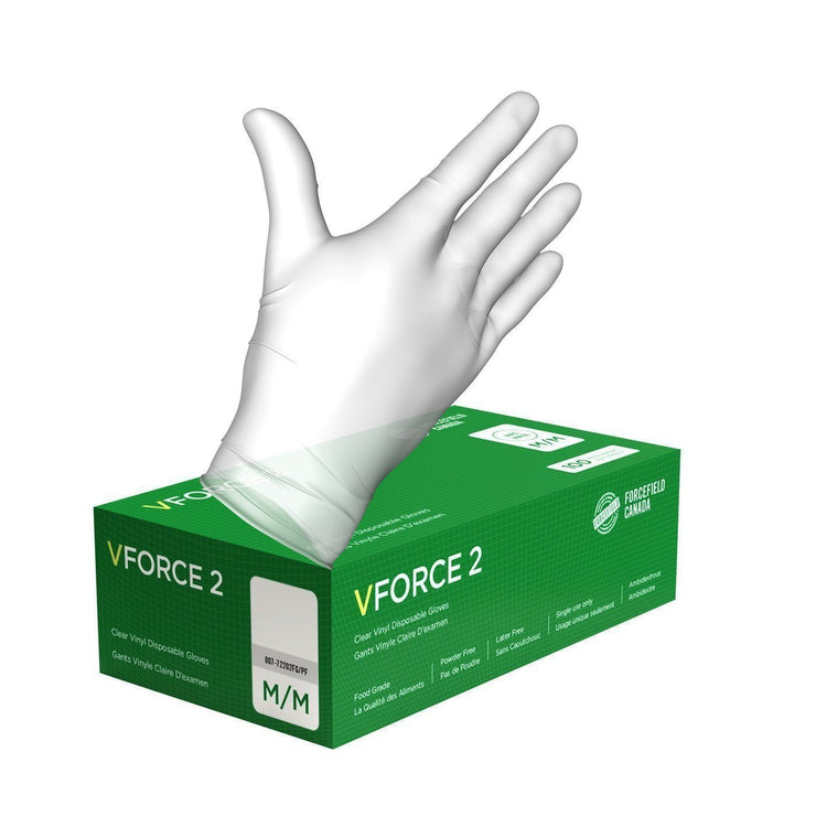 VForce 2 Vinyl Disposable Gloves (Case of 1000 Gloves) - Hi Vis Safety