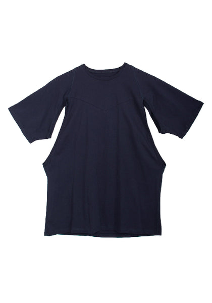 Xhosa - men's geometric cutout navy T-shirt