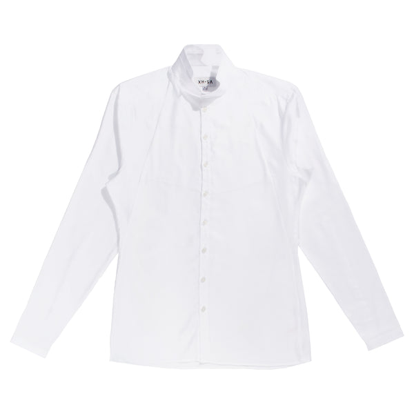 Xhosa - White oxford geometric shirt with chest pockets