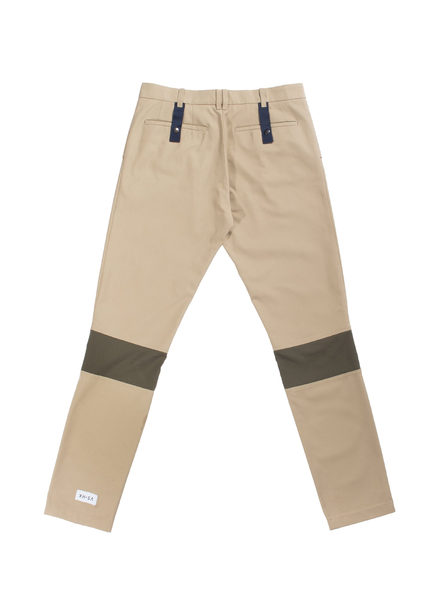 Beige Straight Fit Pleated Trousers