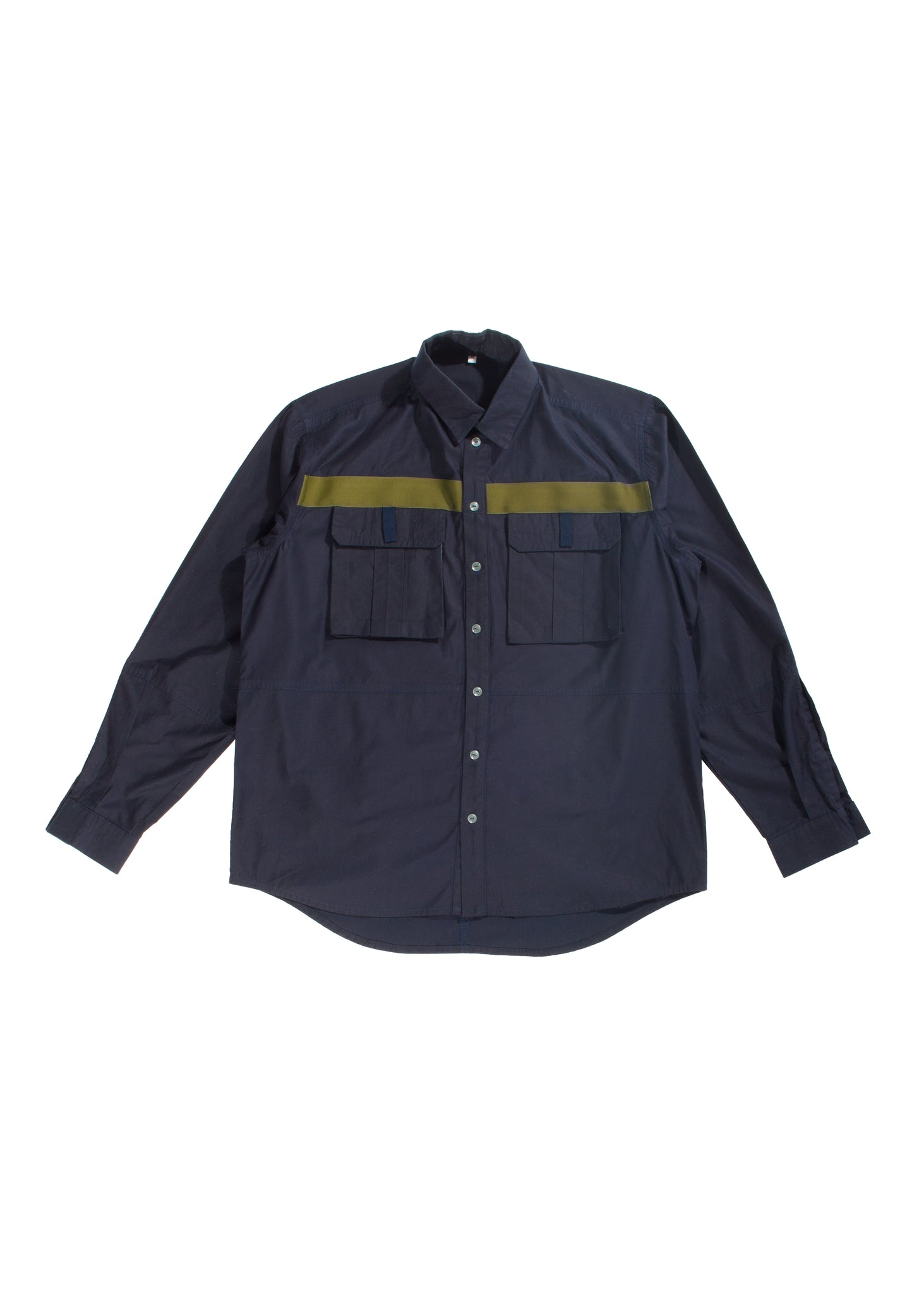 Xhosa - Straight fit navy cotton shirt with back pocket