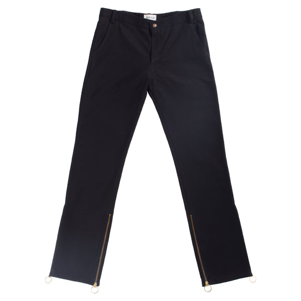 Xhosa - Navy cotton canvas straight fit pants