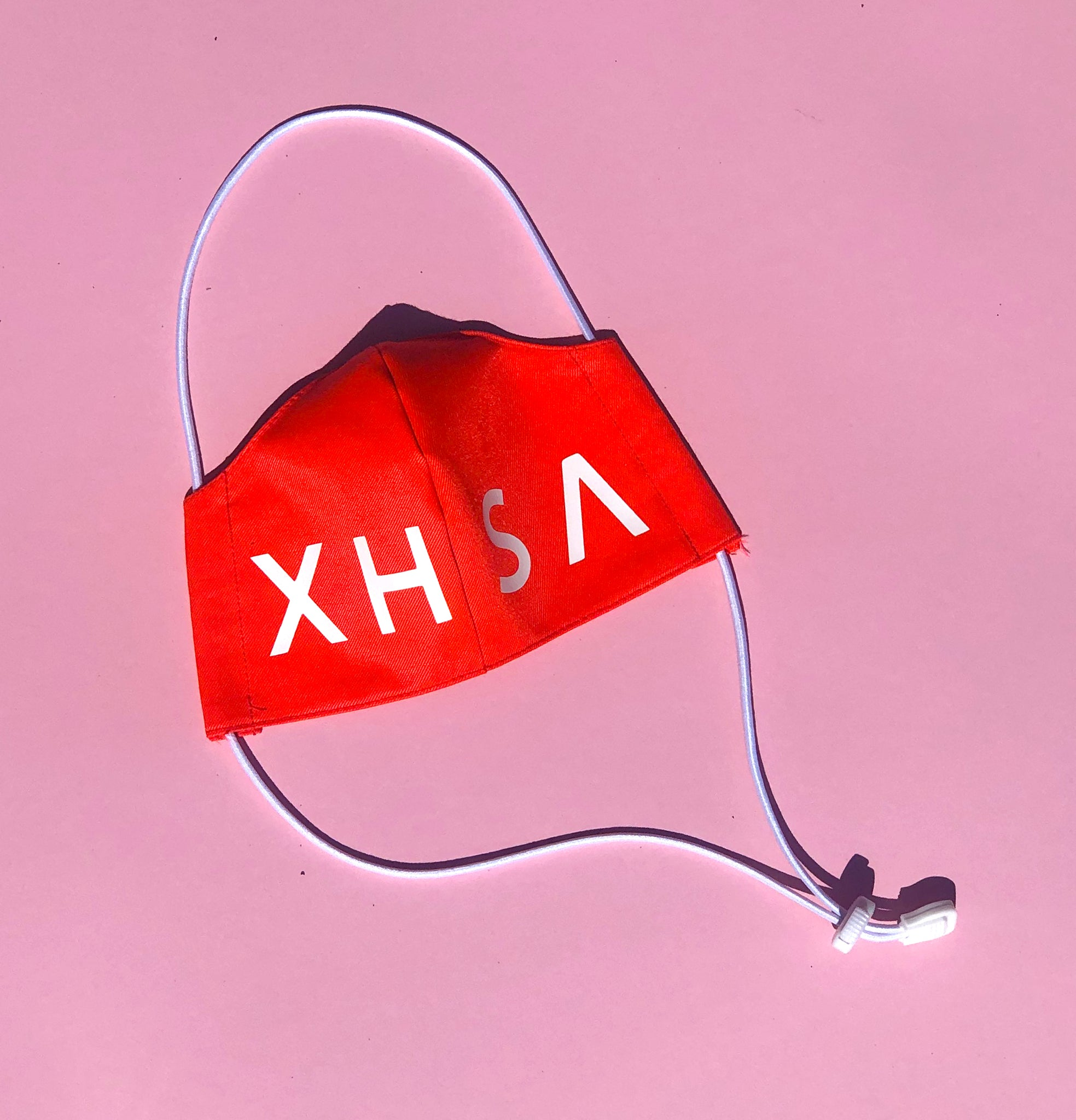 Fluorescent Orange Xhosa Logo Mask