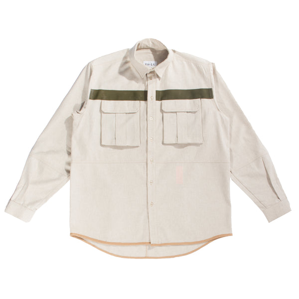 Sand cotton canvas shirt