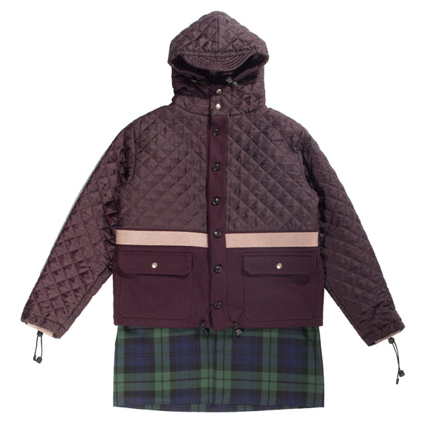 Purple quilted coat
