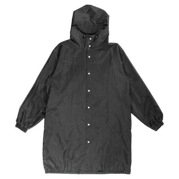 Black nylon xhosa raincoat