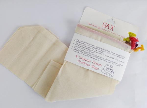 Four cotton bags by SAX