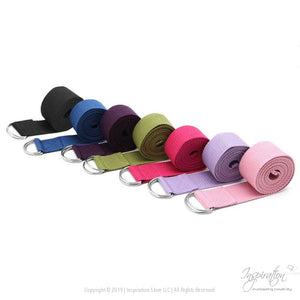 Adjustable D-Ring Yoga Stretch Strap (7 Colors) - Inspiration Store Llc