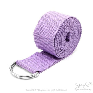 Adjustable D-Ring Yoga Stretch Strap (7 Colors) - Purple - Inspiration Store Llc