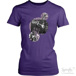 Alejandra Yoga (Style C) - T-Shirt - District Womens Shirt / Purple / Xs - Inspiration Store Llc