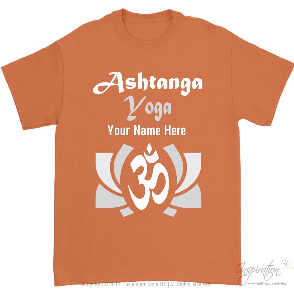 Ashtanga Yoga T-Shirt - Personalizable - Unisex T-Shirt - Ashtanga Yoga T-Shirt - Personalizable / Orange / S - Inspiration Store Llc
