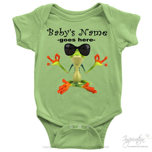 Baby Onesie - *add A Name - T-Shirt - Baby Onesie / Keylime / Nb - Inspiration Store Llc