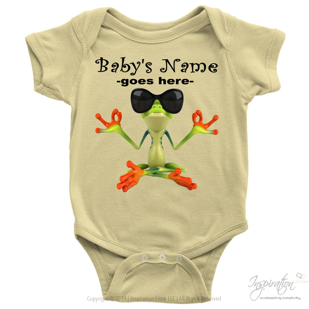 Baby Onesie - *add A Name - T-Shirt - Baby Onesie / Lemon / Nb - Inspiration Store Llc