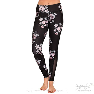 Black With Pastel Print Leggings - (Style A) Free Shipping - Leggings - Inspiration Store Llc