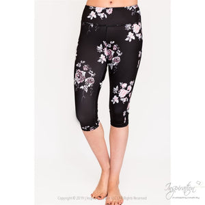Black With Pastel Print Leggings - (Style B) Free Shipping - Leggings - Xs / Floral Print - Inspiration Store Llc