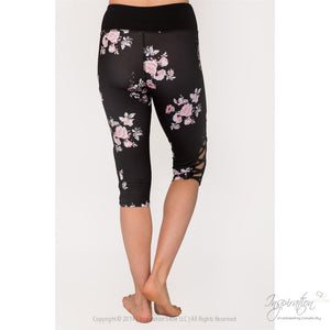 Black With Pastel Print Leggings - (Style C) Free Shipping - Leggings - Inspiration Store Llc