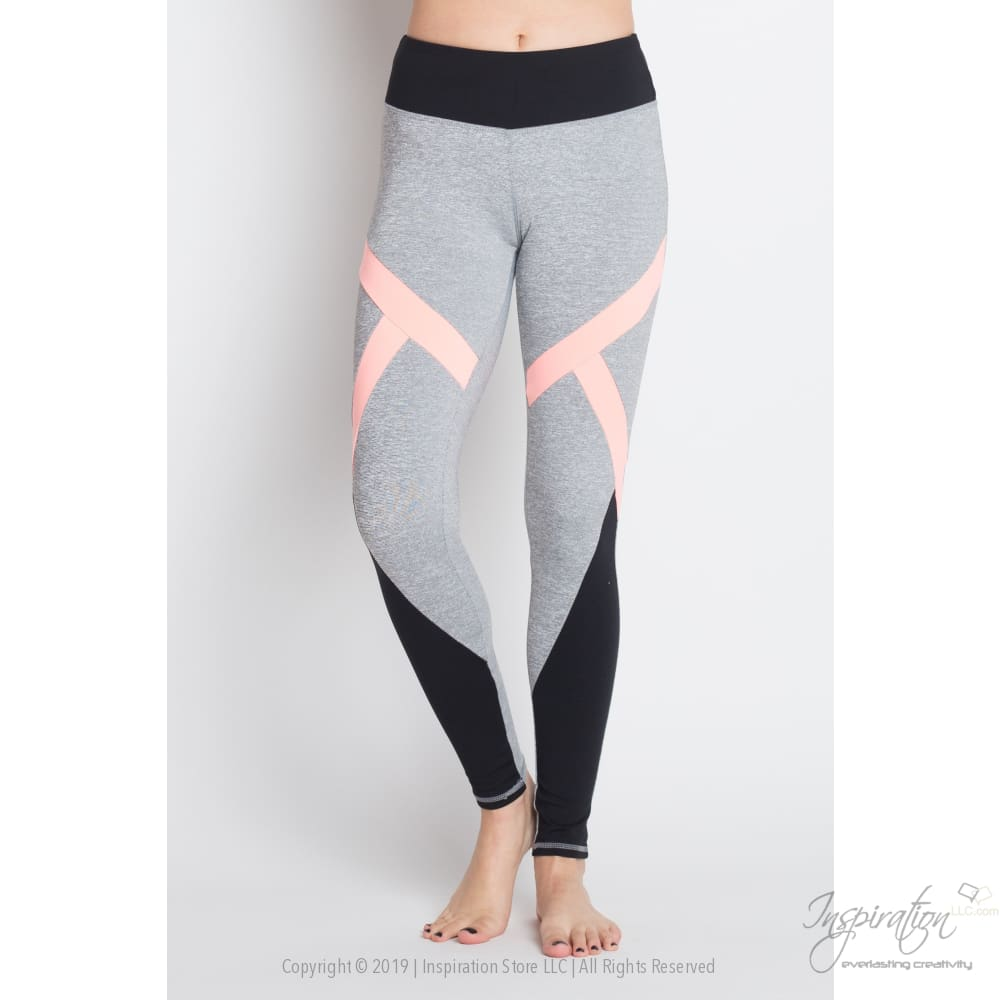Contrasting Color Panel Yoga Leggings Free Shipping - Leggings - Inspiration Store Llc