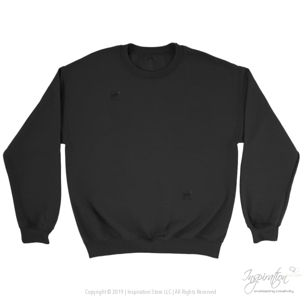 Customify Crewneck Sweatshirt - Free Shipping - T-Shirt - Crewneck Sweatshirt / Black / S - Inspiration Store Llc