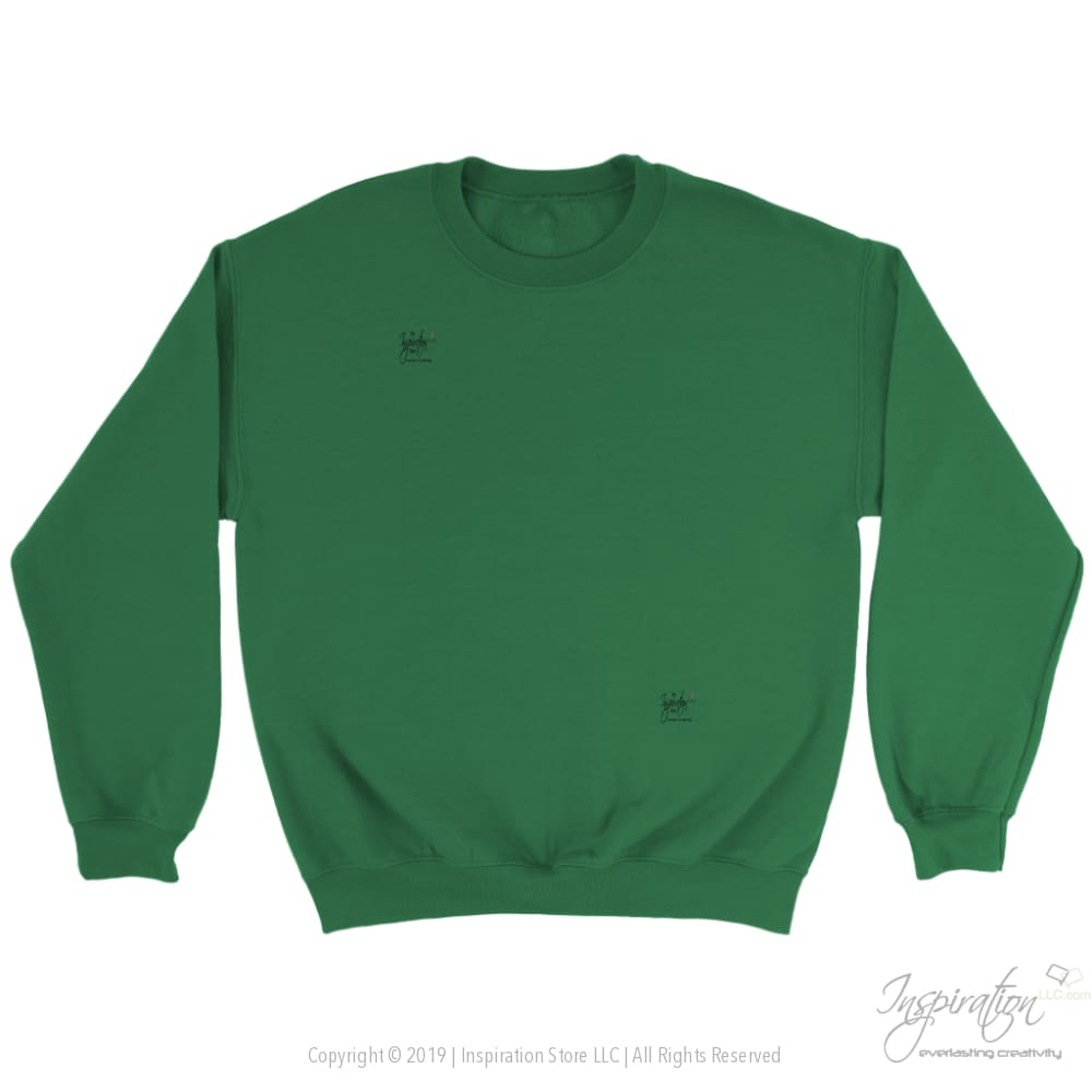 Customify Crewneck Sweatshirt - Free Shipping - T-Shirt - Crewneck Sweatshirt / Irish Green / S - Inspiration Store Llc