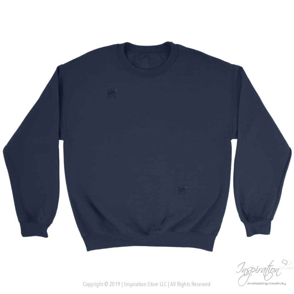Customify Crewneck Sweatshirt - Free Shipping - T-Shirt - Crewneck Sweatshirt / Navy / S - Inspiration Store Llc