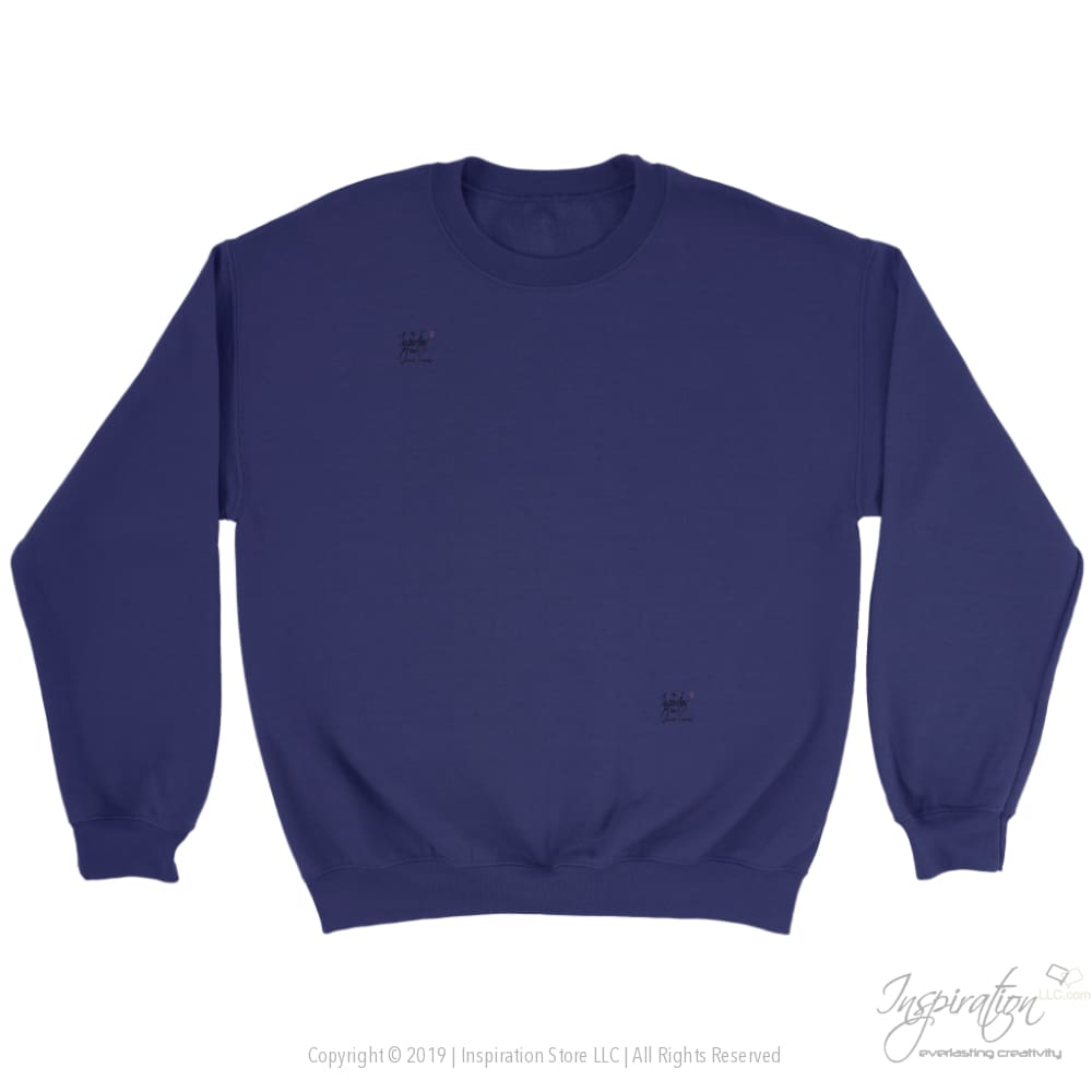 Customify Crewneck Sweatshirt - Free Shipping - T-Shirt - Crewneck Sweatshirt / Purple / S - Inspiration Store Llc