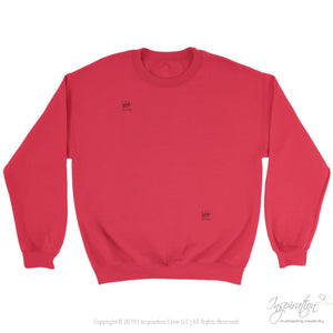 Customify Crewneck Sweatshirt - Free Shipping - T-Shirt - Crewneck Sweatshirt / Red / S - Inspiration Store Llc