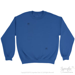 Customify Crewneck Sweatshirt - Free Shipping - T-Shirt - Crewneck Sweatshirt / Royal / S - Inspiration Store Llc
