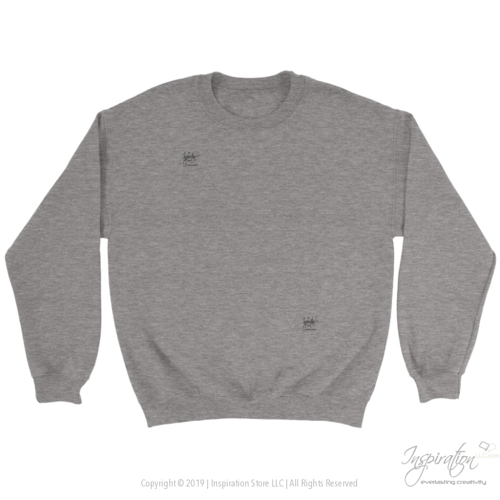 Customify Crewneck Sweatshirt - Free Shipping - T-Shirt - Crewneck Sweatshirt / Sport Grey / S - Inspiration Store Llc