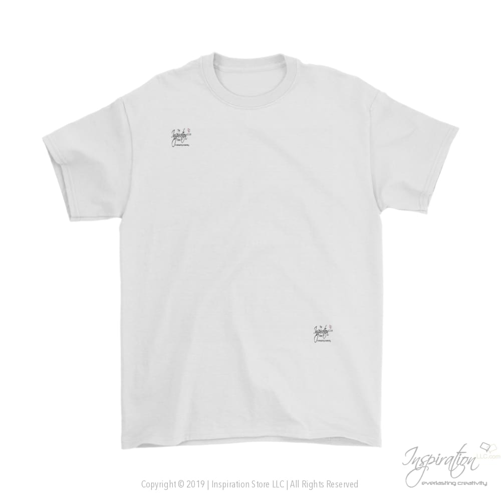 Customify Gildan Mens T-Shirt - Free Shipping - T-Shirt - Gildan Mens T-Shirt / White / S - Inspiration Store Llc