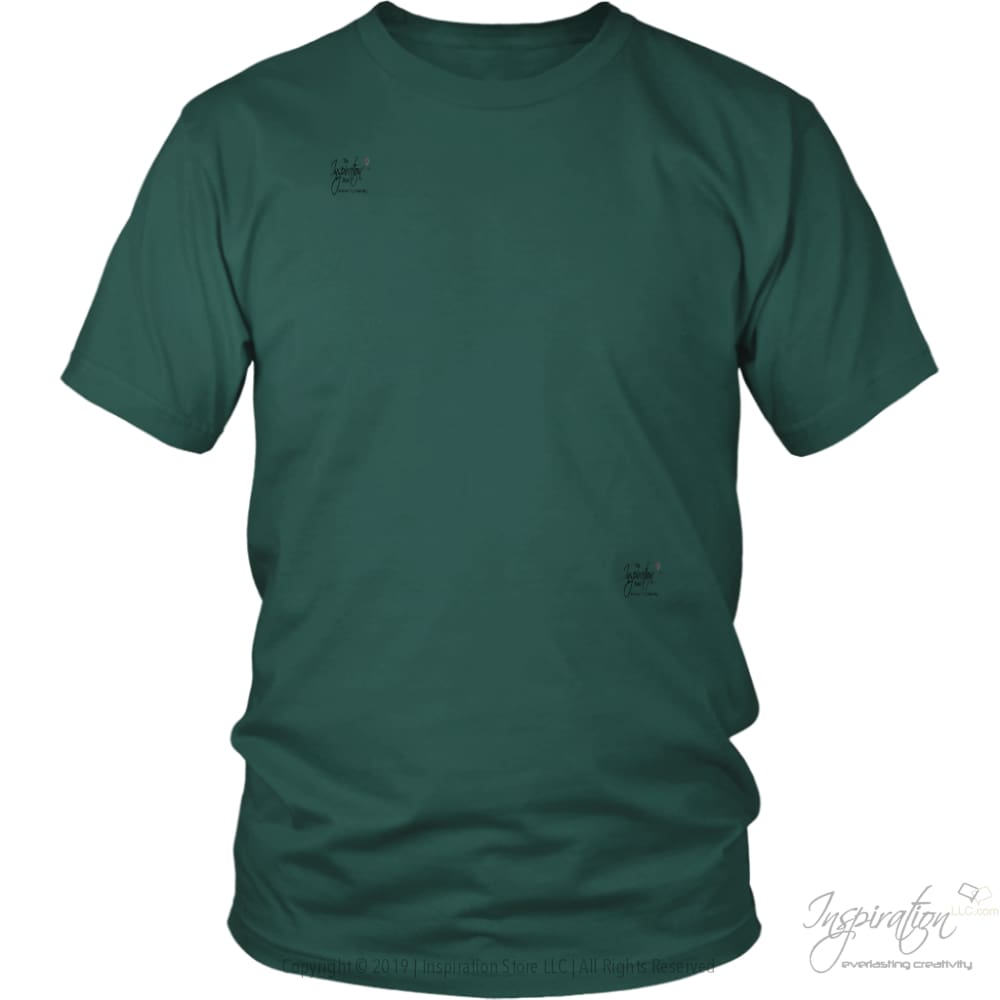 Customify It Yourself - Free Shipping - T-Shirt - District Unisex Shirt / Dark Green / S - Inspiration Store Llc