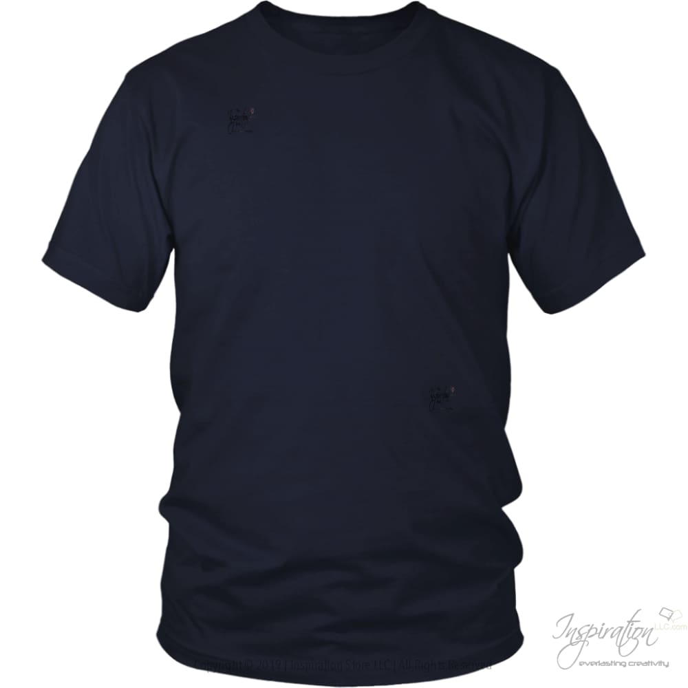 Customify It Yourself - Free Shipping - T-Shirt - District Unisex Shirt / Navy / S - Inspiration Store Llc