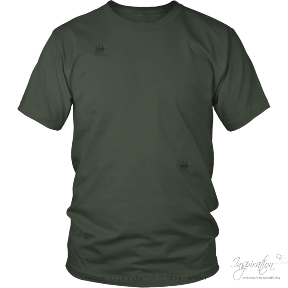 Customify It Yourself - Free Shipping - T-Shirt - District Unisex Shirt / Olive / S - Inspiration Store Llc