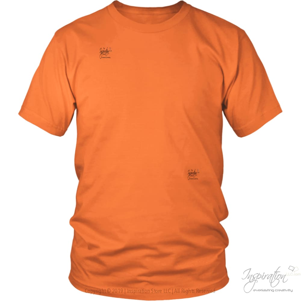 Customify It Yourself - Free Shipping - T-Shirt - District Unisex Shirt / Orange / S - Inspiration Store Llc