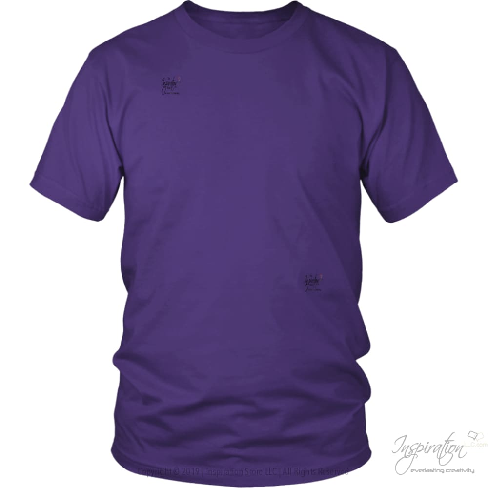 Customify It Yourself - Free Shipping - T-Shirt - District Unisex Shirt / Purple / S - Inspiration Store Llc