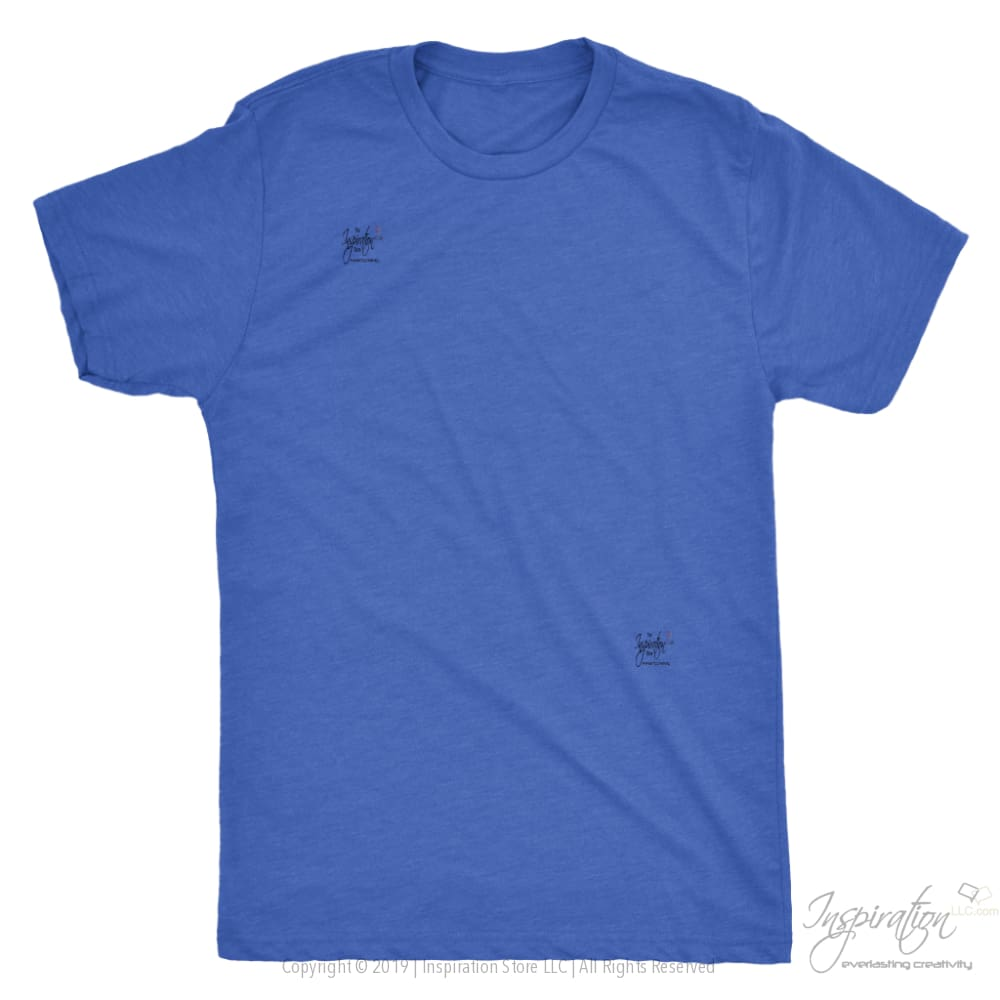 Customify Next Level Mens Triblend - Free Shipping - T-Shirt - Next Level Mens Triblend / Vintage Royal / S - Inspiration Store Llc